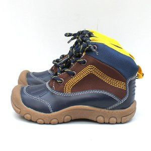 Child of Mine by Carters Navy and Brown Boots Sz 9
